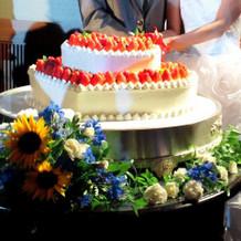 ケーキ装荷