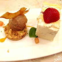 デザート×ファーストバイトのケーキ