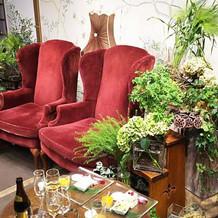 高砂ソファの装花