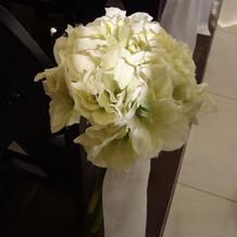 挙式会場のお花。
