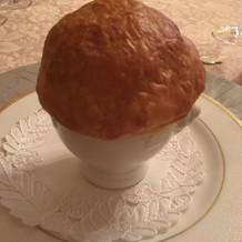 コンソメスープ パイ包み焼き