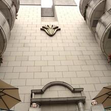 建物の壁面。