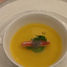かぼちゃと抹茶のスープ