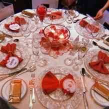 可愛らしいゲストテーブル
