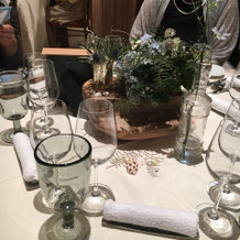 装花、テーブルコーディネート