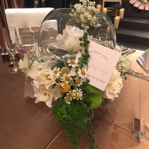 ゲスト装花。