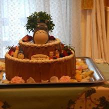 トトロのオリジナルケーキ