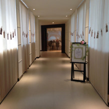 会場PARISの廊下