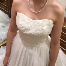 白のドレスもかわいかったです