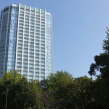外から見たプリンスパークタワー