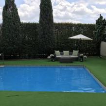 ガーデンにもプールがありました。