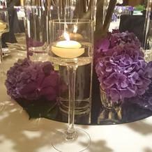 2階の披露宴会場の装花