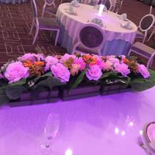 メイン席装花