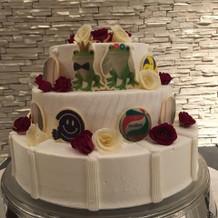自分達の好きなものを全てケーキに飾った!