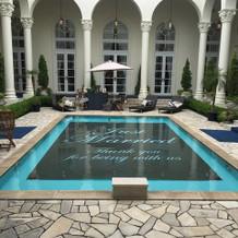 ガーデンプール。