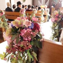 チャペル内のお花
