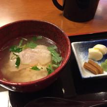 白身魚の茶漬け胡麻味噌