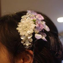 小花が可愛いプチ大人感。