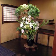 披露宴会場2の装花
