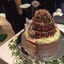 ケーキではなくお好み焼き入刀