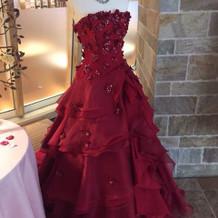 素敵な赤いドレス