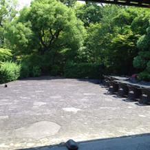 披露宴会場1にある庭