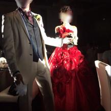素敵な真っ赤なドレス