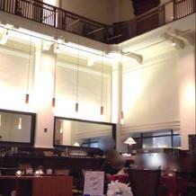 一階のレストランが挙式会場になる