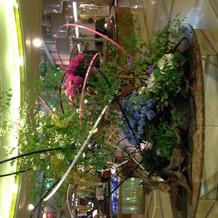 ロビーにある装花