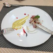 手製桜ポークハム。前菜