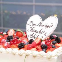 甘すぎずとても美味しいケーキでした。