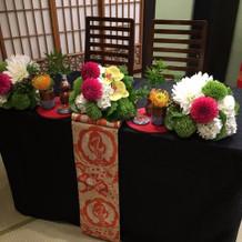 新郎新婦テーブル(フェア時)