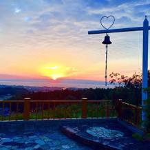 チャペルから見える夕日