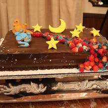 アラジンがテーマのケーキです