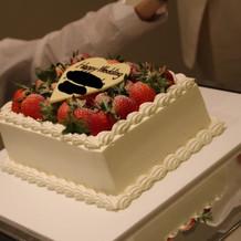 ウェディングケーキもとても気に入りました