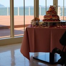 ウェデイングケーキも可愛かった!