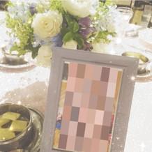 子供の写真でテーブル決め。