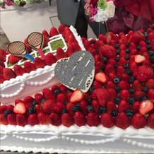 テニスモチーフケーキ