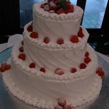 会場にご案内いただきケーキをパシャリ