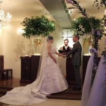 結婚式 「誓いの言葉」の様子です。