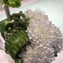 チャペル内、お花