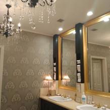 化粧室の鏡が大きく、使いやすかったです。