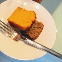 ベーカリーで焼いたパンケーキ