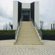 チャペルと階段