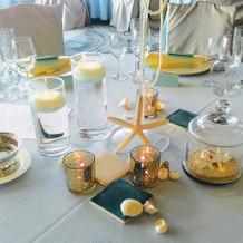 マリンテイストのテーブル一例