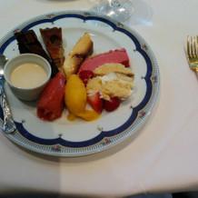 試食の時のデザートです。