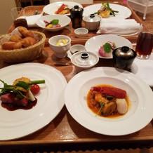豪華な料理に大満足!
