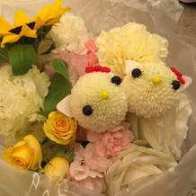 花にも仕掛けで隠れキティ