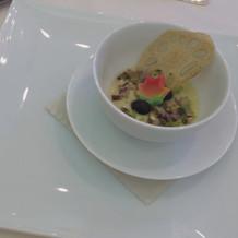 茶碗蒸しに和風のスープ