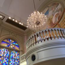 チャペル内の天井